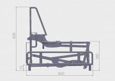 Mechanizmy do sof Goliat SP ZP rzut boczny złożony