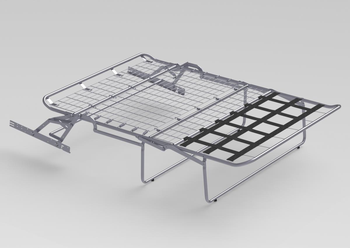 Stelaż typu sedak Sorano S rozłożony
