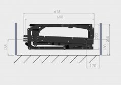 mechanizmy meblowe Tolo 140 p-1 montaż